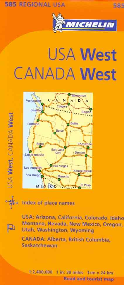 Michelin Map Western U.s., Western Canada By Michelin Travel & Lifestyle (COR)